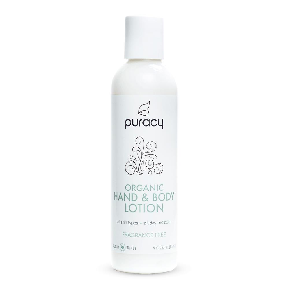 Organic Hand & Body Lotion - Fragrance Free / 4oz