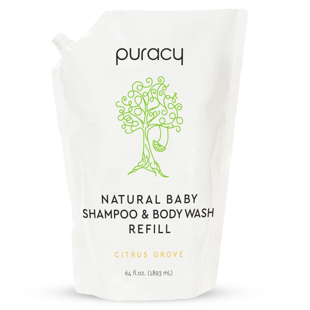 Natural Baby Shampoo & Body Wash - Citrus Grove / 64oz Refill