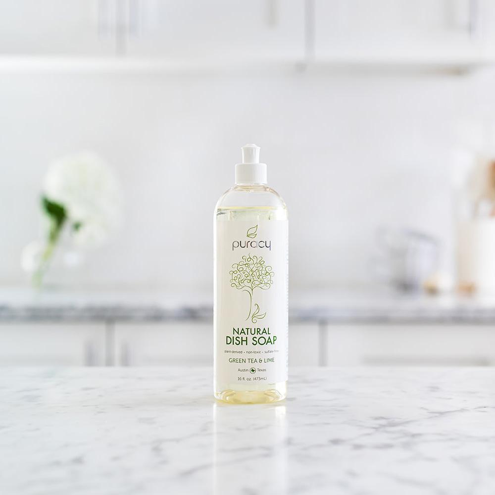 Natural Dish Soap - Green Tea & Lime / 16oz