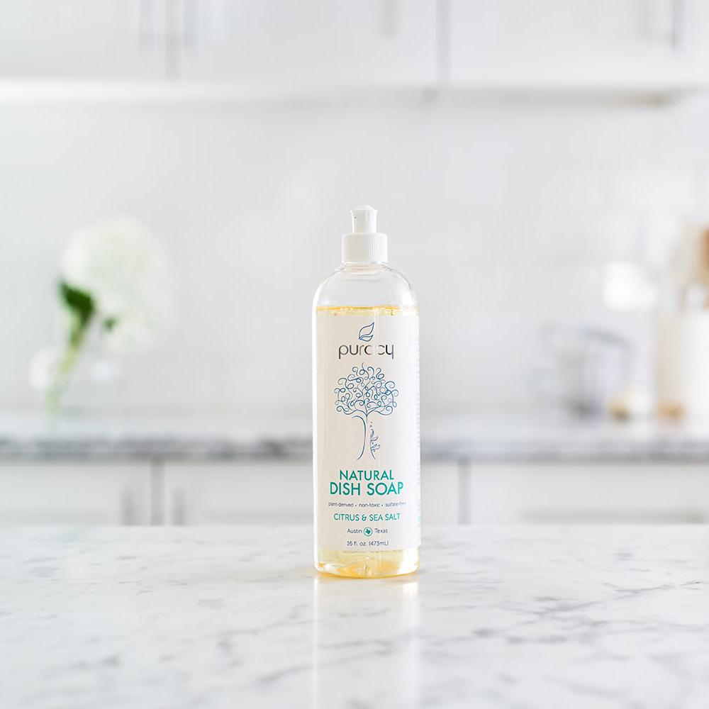 Natural Dish Soap - Citrus & Sea Salt / 16oz
