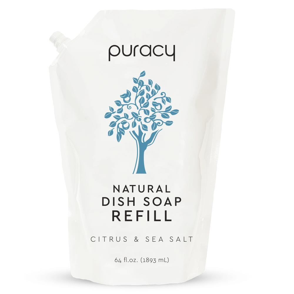 Natural Dish Soap - Citrus & Sea Salt / 64oz Refill