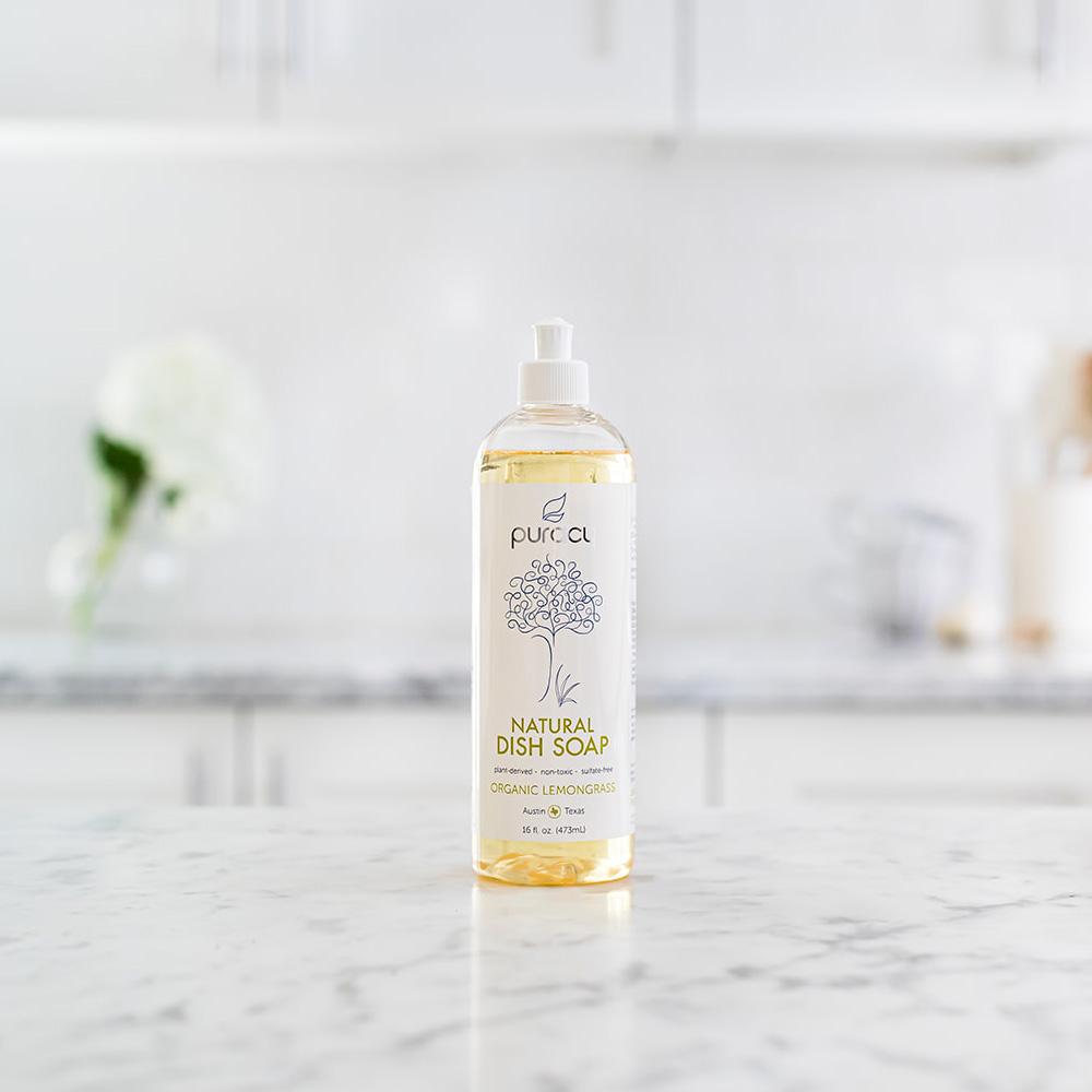Natural Dish Soap - Organic Lemongrass / 16oz