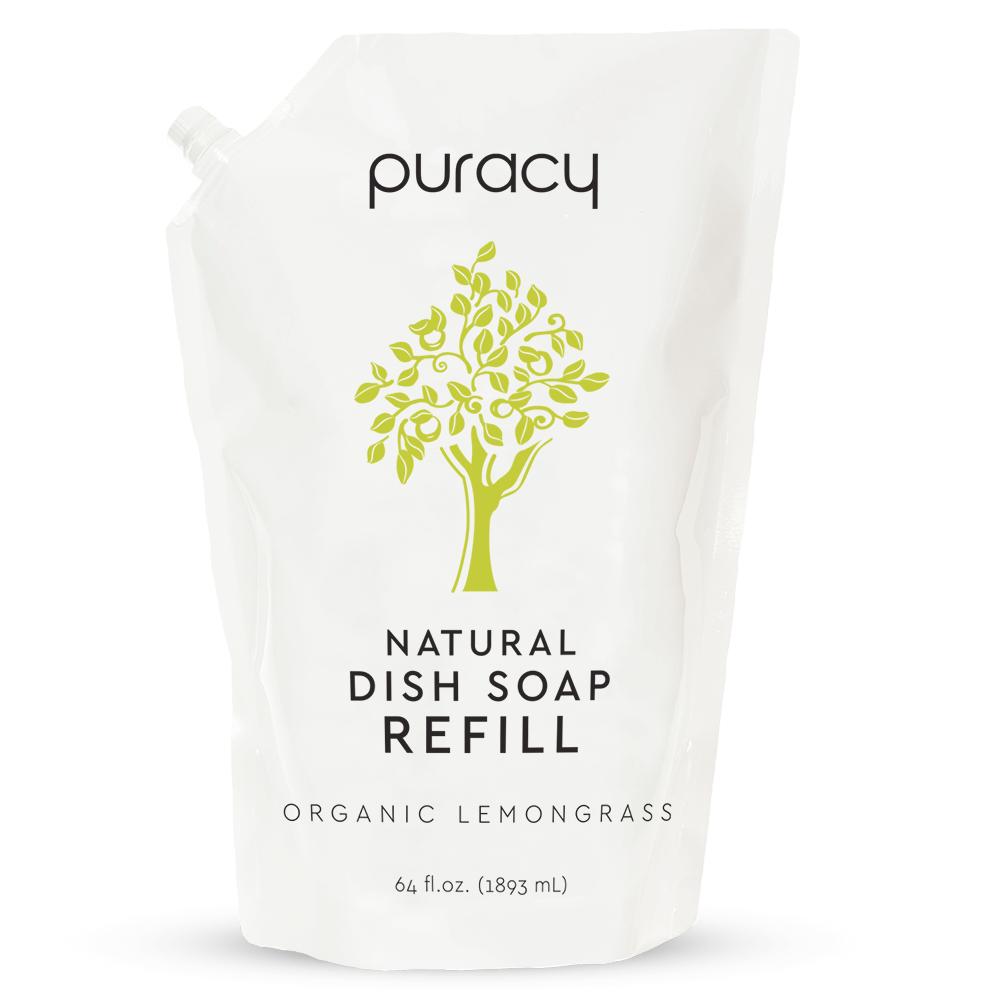 Natural Dish Soap - Organic Lemongrass / 64oz Refill