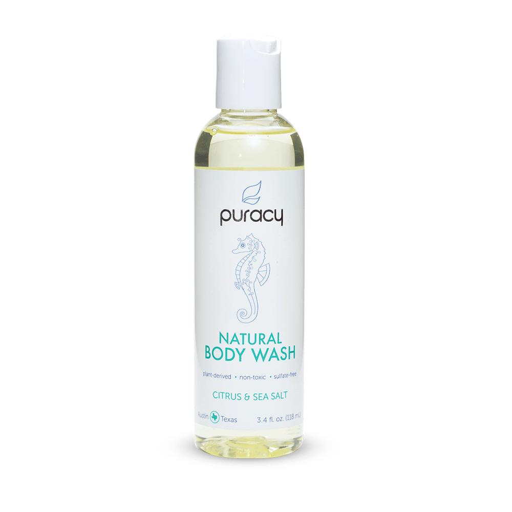 Natural Body Wash - Citrus & Sea Salt / 4oz