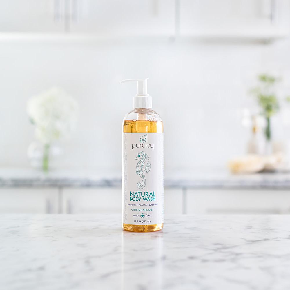 Natural Body Wash - Citrus & Sea Salt / 16oz