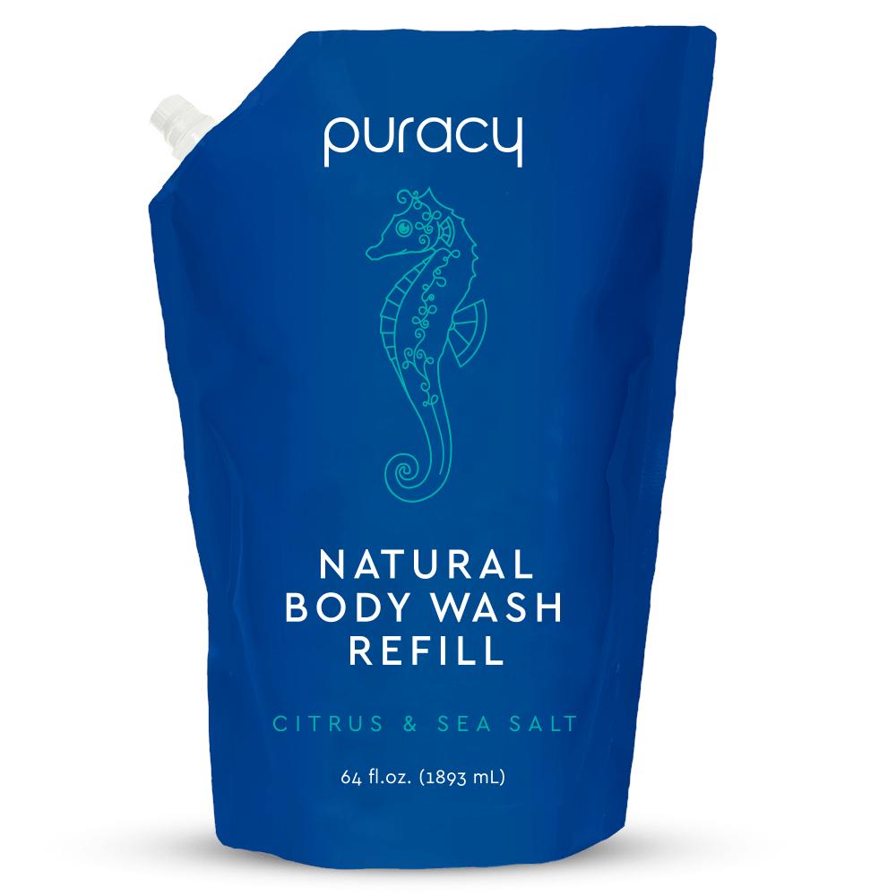 Natural Body Wash - Citrus & Sea Salt / 64oz Refill