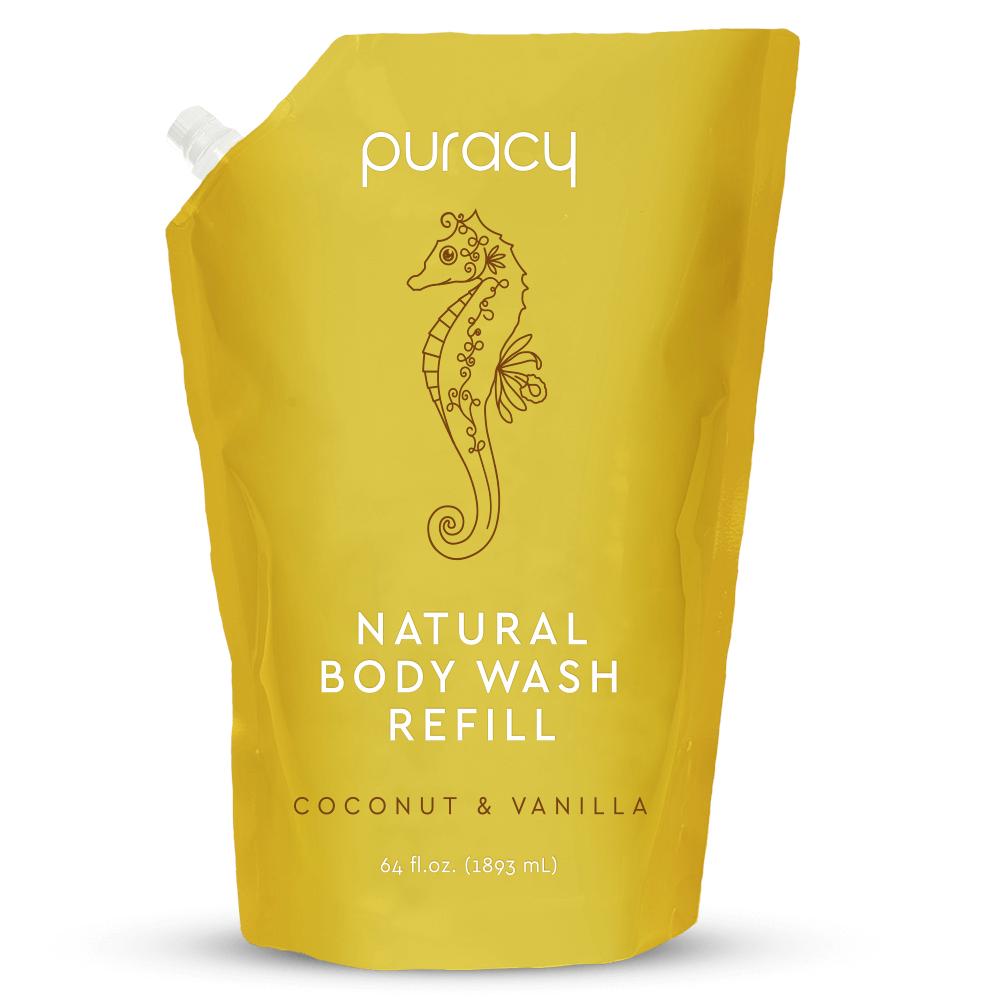 Natural Body Wash - Coconut & Vanilla / 64oz Refill