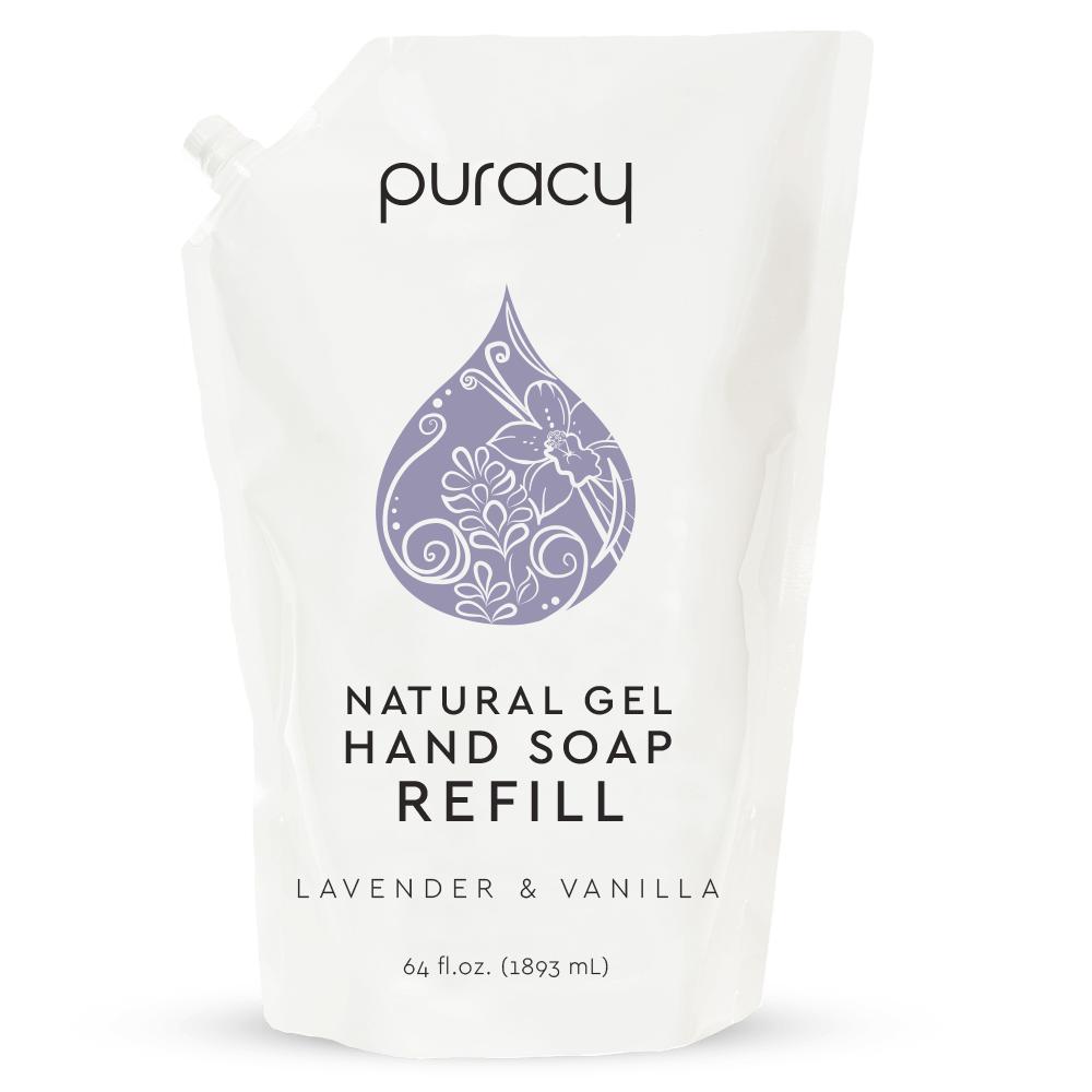 Natural Gel Hand Soap - Lavender & Vanilla / 64oz Refill