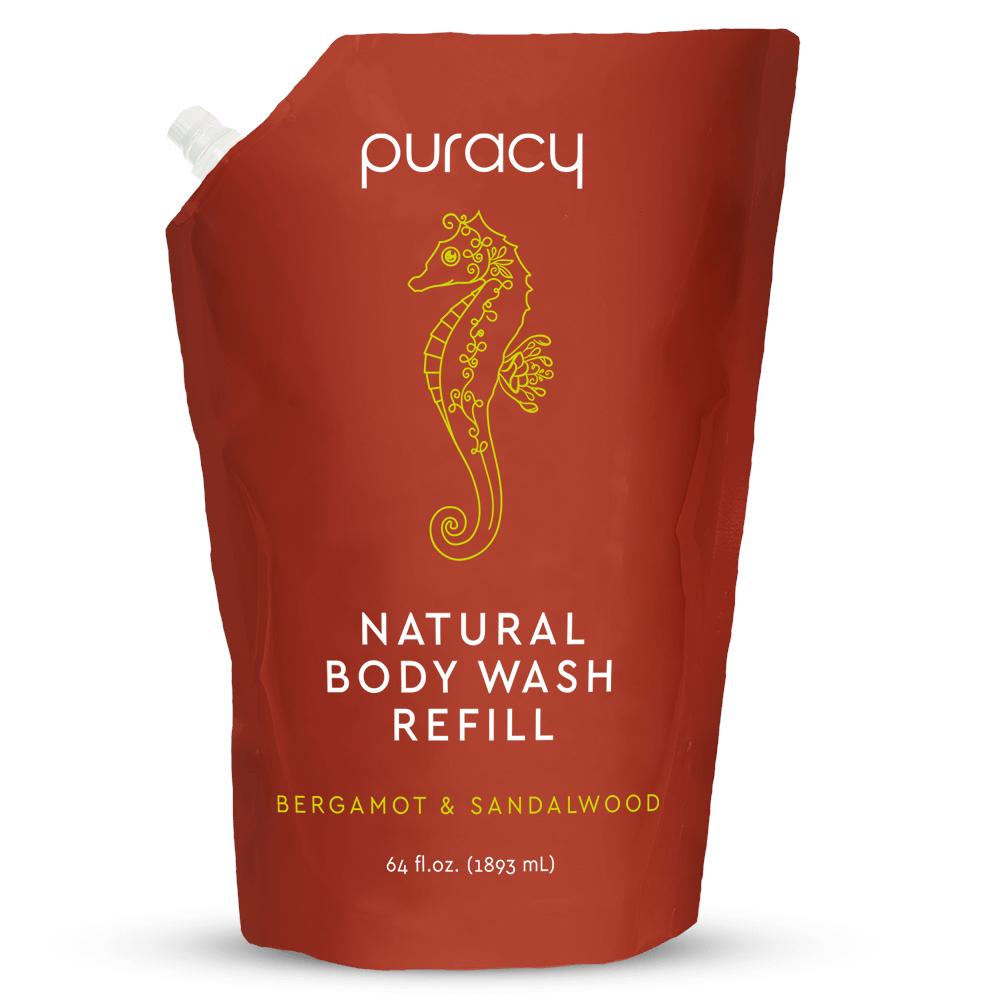 Natural Body Wash - Bergamot & Sandalwood / 64oz Refill