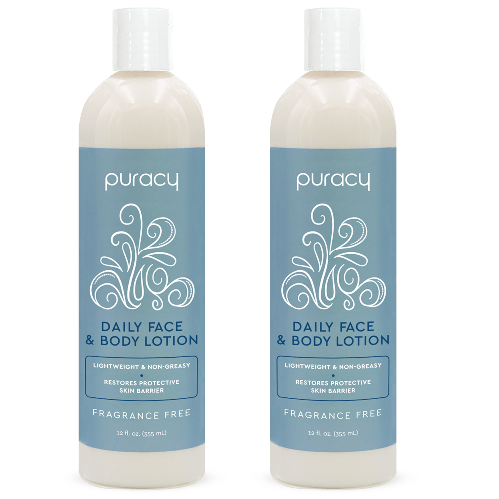 Organic Hand & Body Lotion - Fragrance Free / 12oz (Pack of 2)