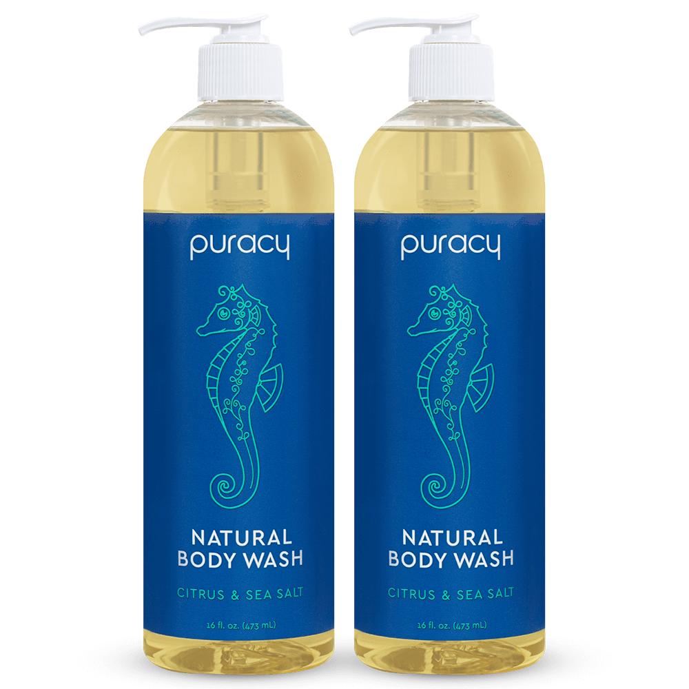 Natural Body Wash - Citrus & Sea Salt / 16oz (Pack of 2)