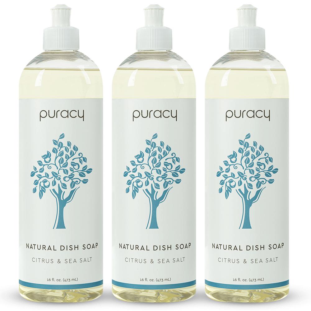 Natural Dish Soap - Citrus & Sea Salt / 16oz (Pack of 3)
