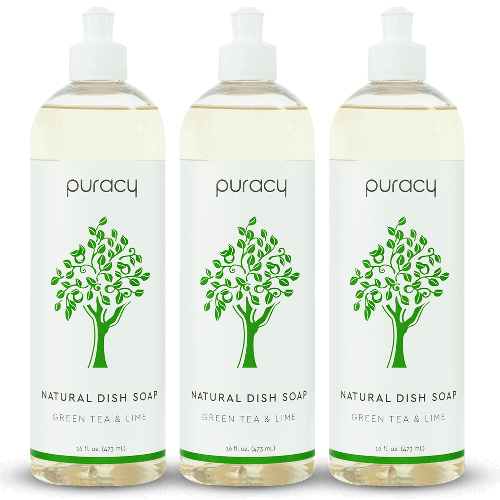 Natural Dish Soap - Green Tea & Lime / 16oz (Pack of 3)