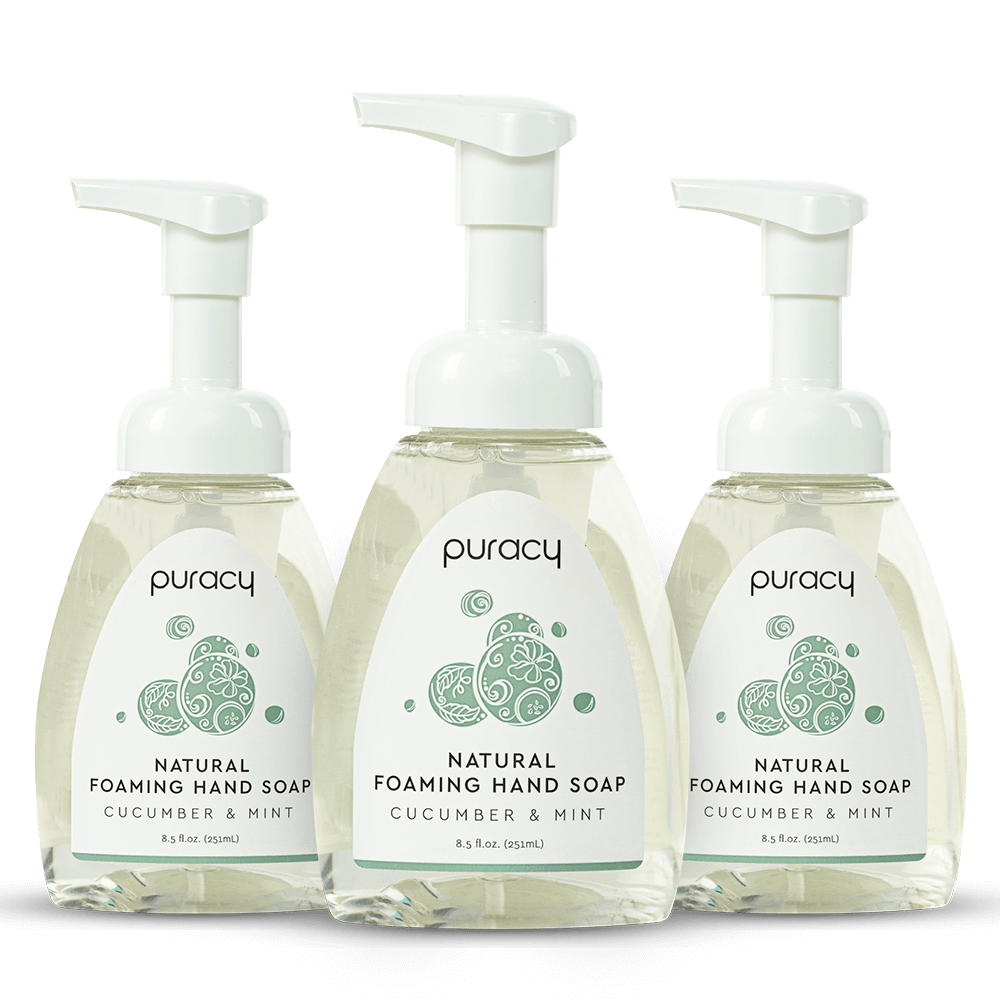 Natural Foaming Hand Soap - Cucumber & Mint / 8.5oz (Pack of 3)