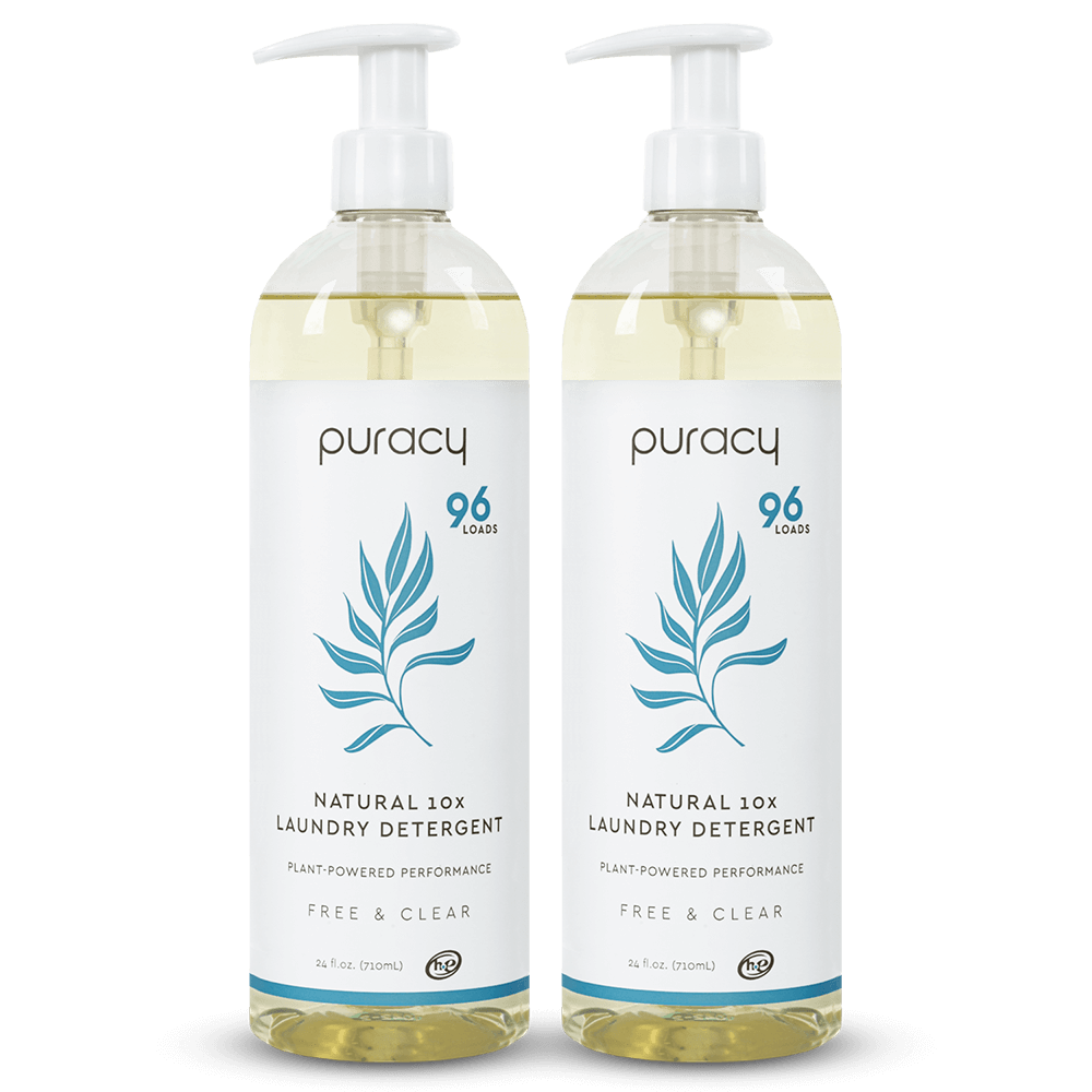 Natural Laundry Detergent - Free & Clear / 24oz (Pack of 2)