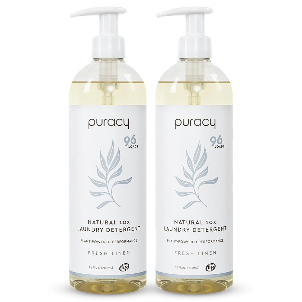 Natural Laundry Detergent - Fresh Linen / 24oz (Pack of 2)