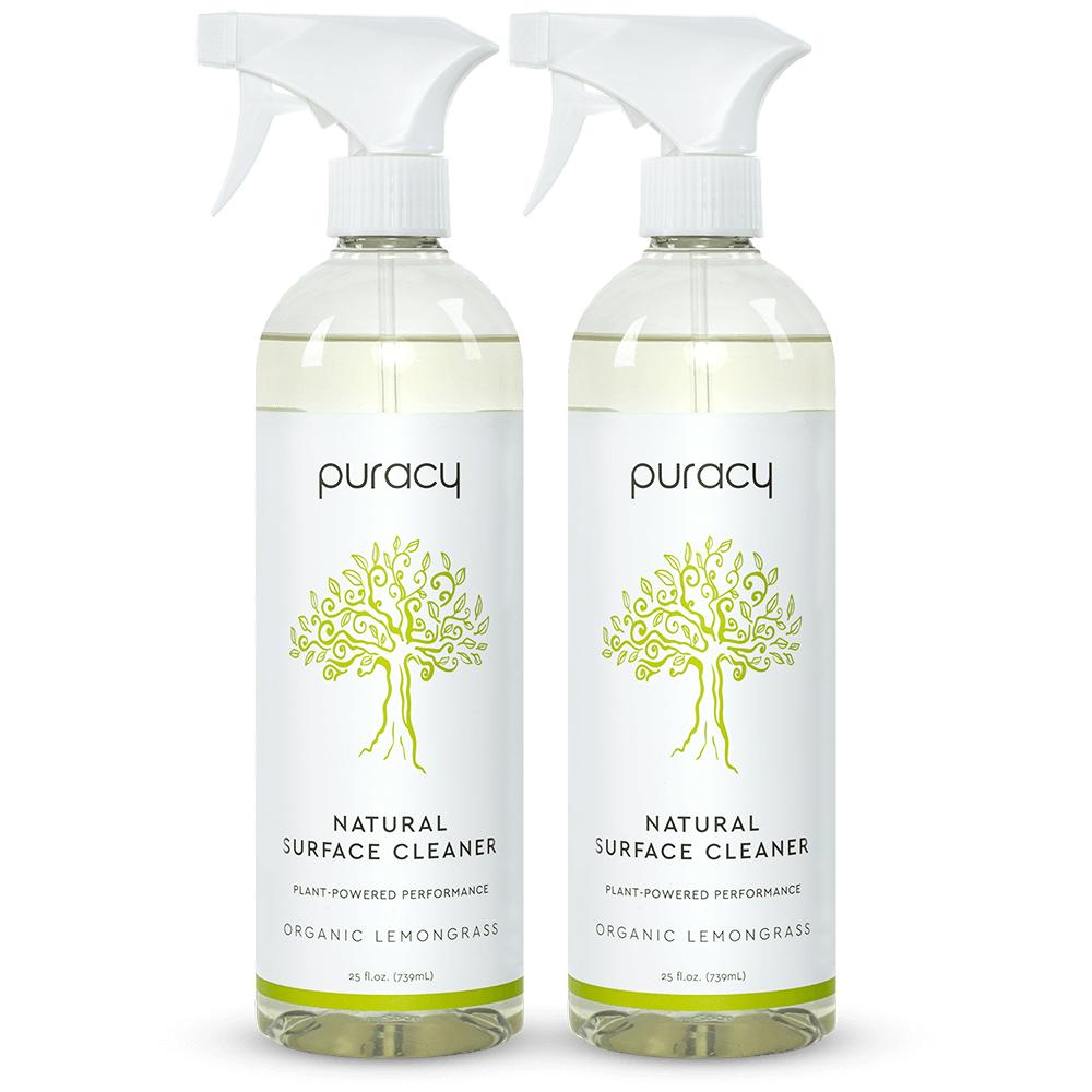 Natural Multi-Surface Cleaner - Organic Lemongrass / 25oz (Pack of 2)