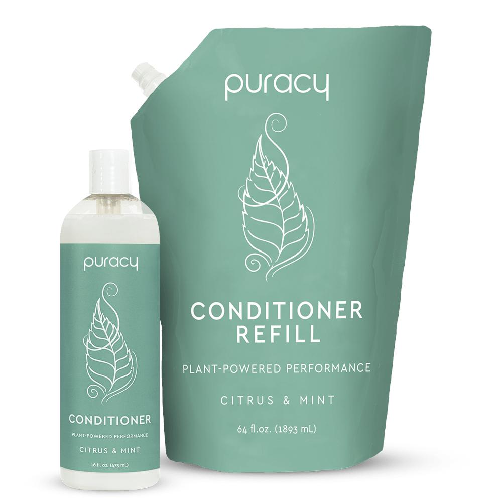 Natural Conditioner - Citrus & Mint / 16oz Bottle + 64oz Refill