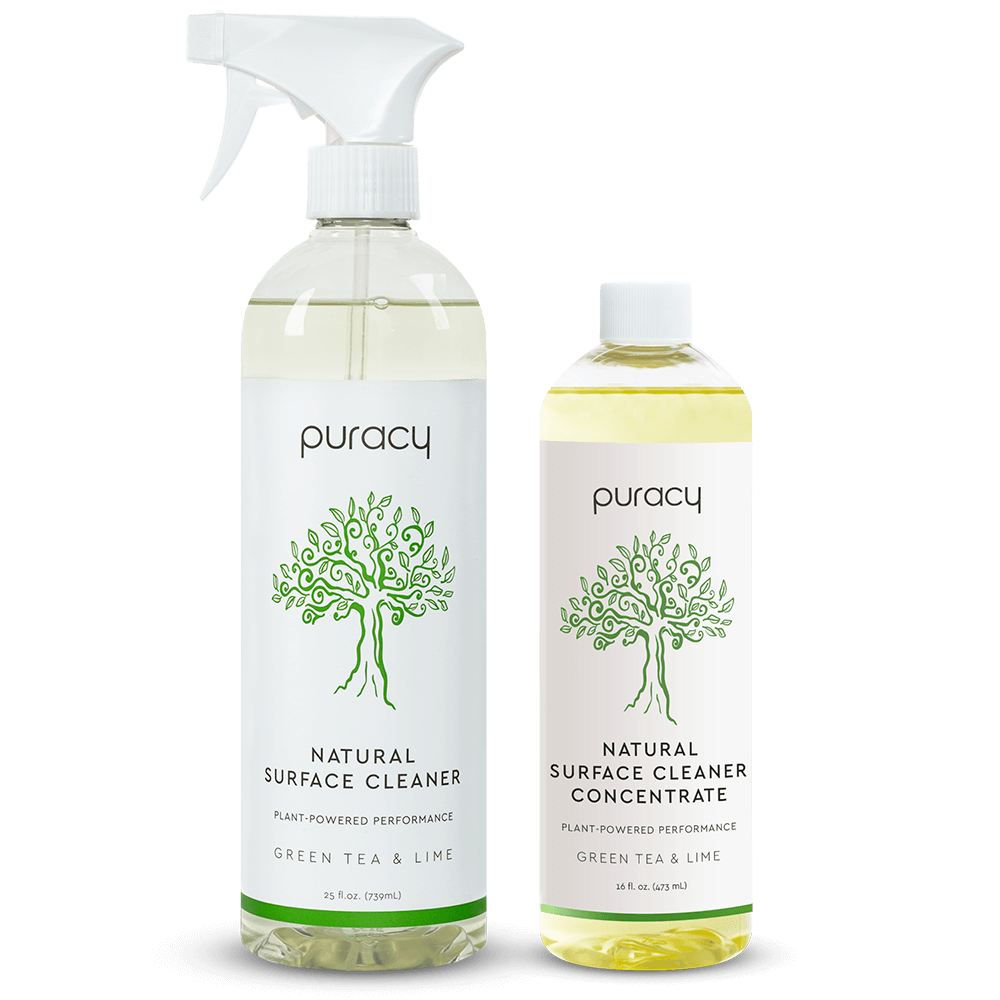 Natural Multi-Surface Cleaner - Green Tea & Lime / 25oz Bottle + 16oz Concentrate