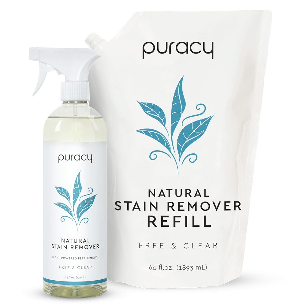 Natural Stain Remover - Free & Clear / 25oz Bottle + 64oz Refill