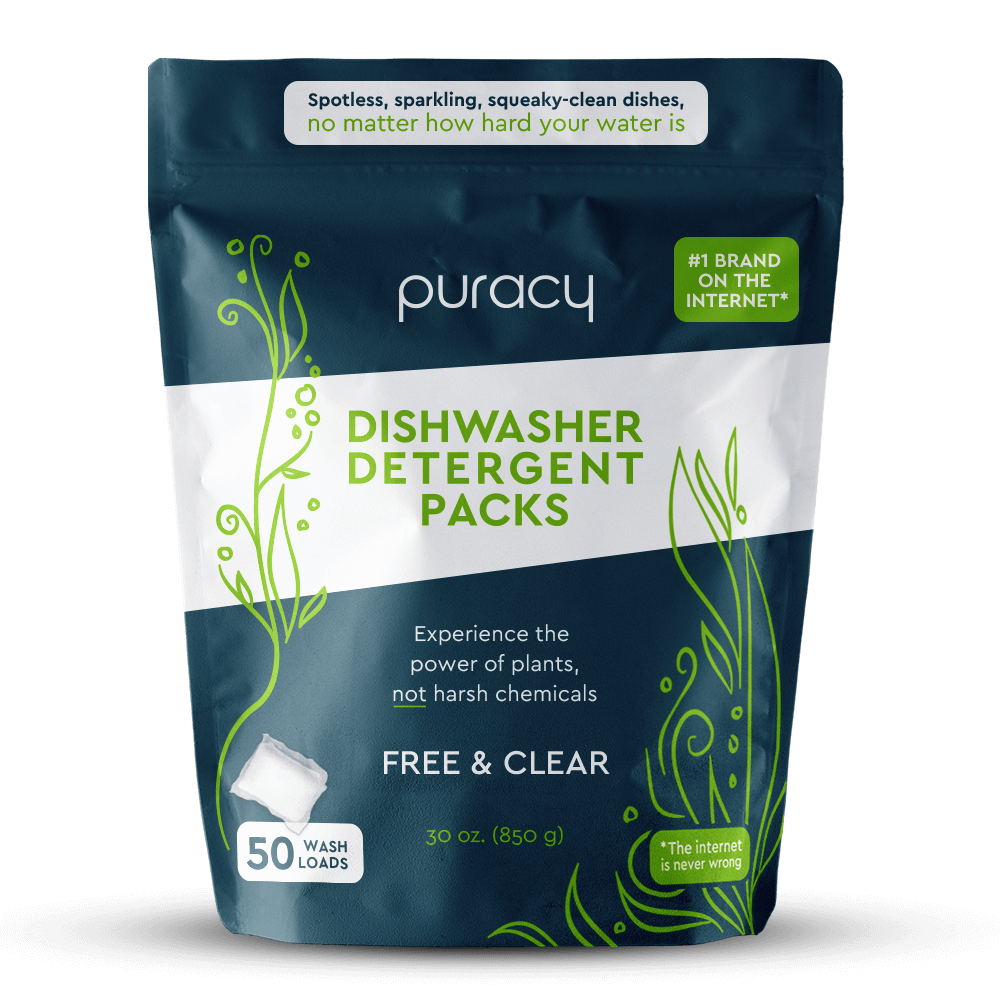 Natural Dishwasher Detergent Packs - Free & Clear / Pack of 50